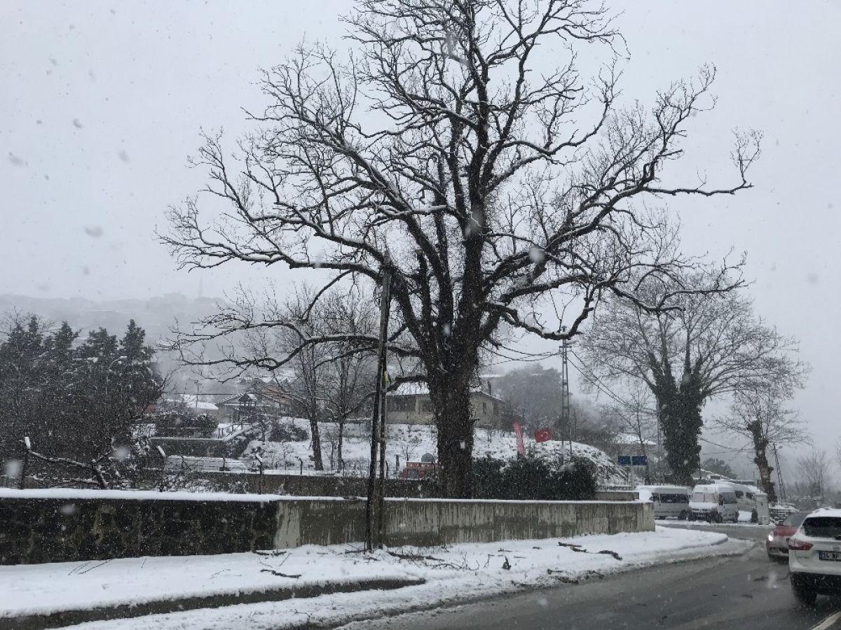 Beykoz'da kar kalınlığı 20 santimi buldu #7