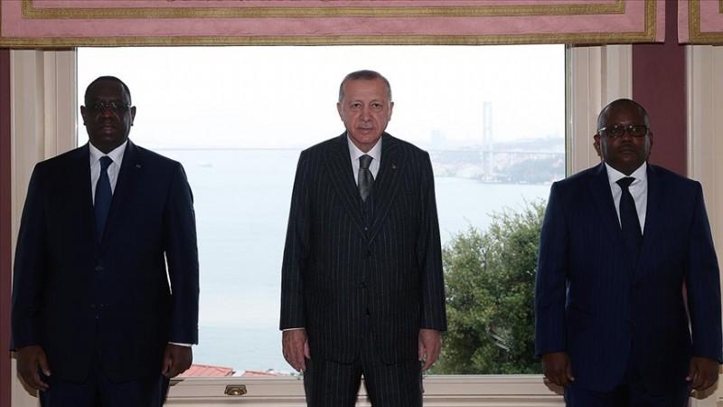 Erdoğan, Gine Bissau ve Senegal cumhurbaşkanları ile görüştü