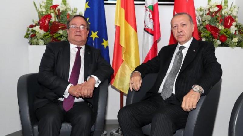 Erdoğan, 'Merkel'in halefi' Laschet'le görüştü