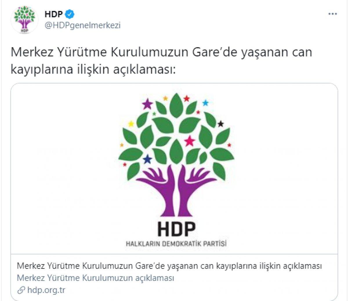 HDP den 13 vatandaşımızın şehit edilmesiyle ilgili samimyetsiz açıklama #1