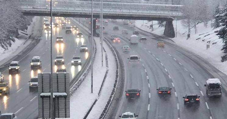 Mega Kent İstanbul'da Kar Sessizliği