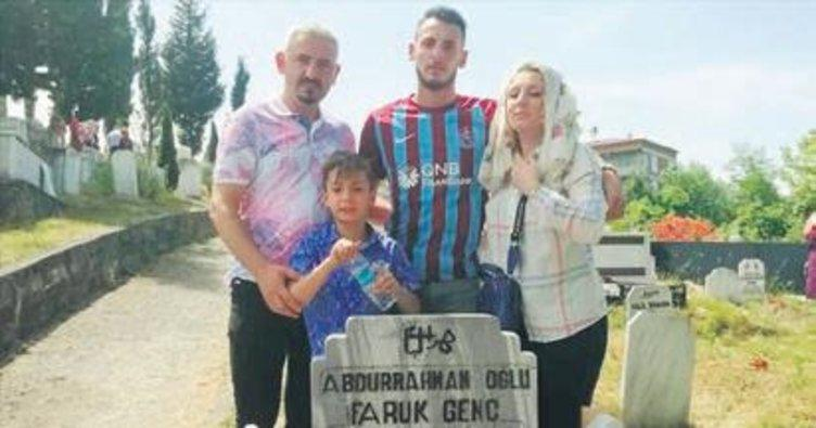 Trabzonsporlu Faruk Can amcasının ismini formasında yaşatıyor