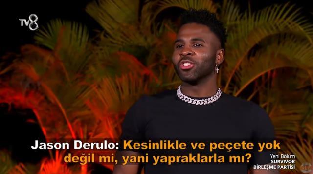Dünyaca ünlü şarkıcı Jason Derulo'nun tuvalet sorusu yarışmacıları hem utandırdı hem güldürdü