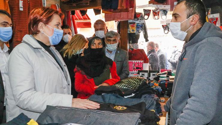 Meral Akşenerden Mardin esnafına ziyaret