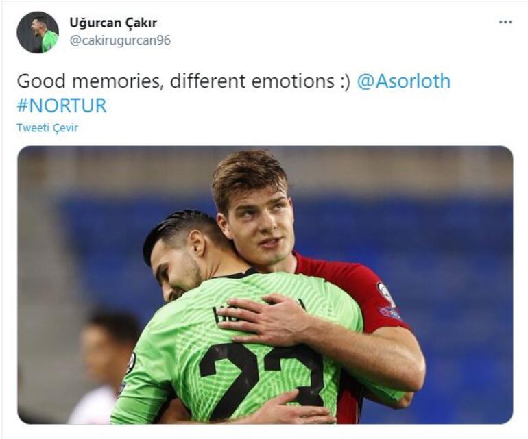 Norveç - Türkiye maçı sonrası Uğurcan Çakırdan Sörloth paylaşımı