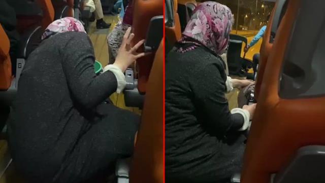 Şehirler arası yolculuk yapan otobüste, çocuğu istifra eden engelli kadına temizlik yaptırdılar