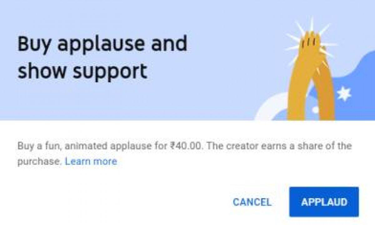 YouTube Alkış özelliği nedir, aktif mi? YouTube Alkış özelliği ücretli mi? #1